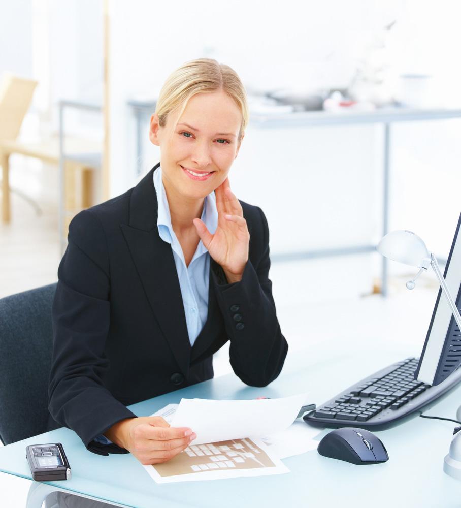 Mujer de negocios larocafm for Secretaria oficina virtual