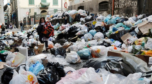 APTOPIX Italy Naples Trash